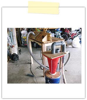 ルーターテーブル&サイクロン集塵機